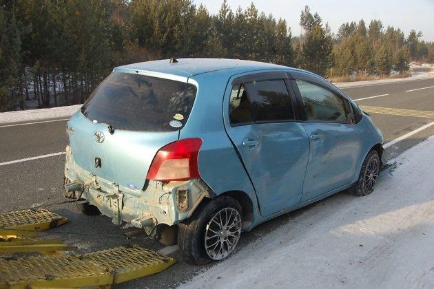 Полицейские вЗабайкалье применили оружие для остановки угнанного авто изАмурской области