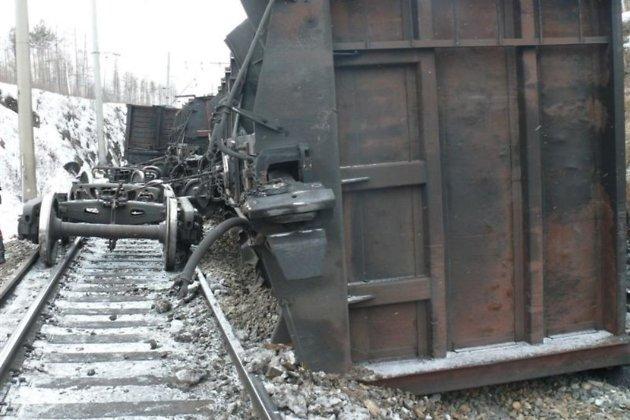 20 вагонов суглём сошли спути вЧитинском районе Забайкалья