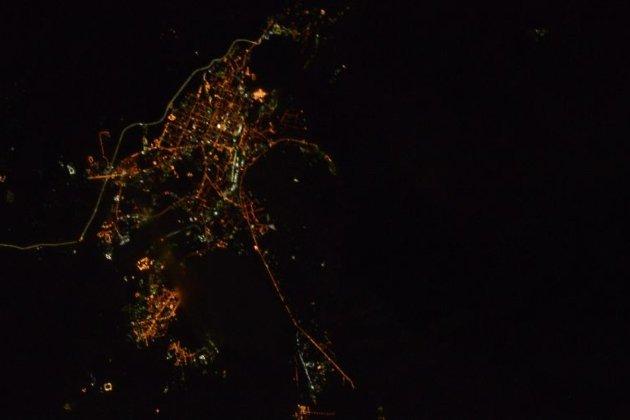 Член экипажа МКС Рыжиков поделился снимками ночной Читы изкосмоса