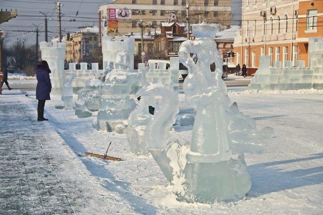 ВЧите наплощади Ленина 23декабря откроют ледовый городок