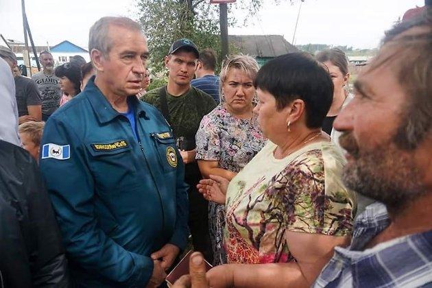 Губернатор Иркутской области в Тулуне после паводка