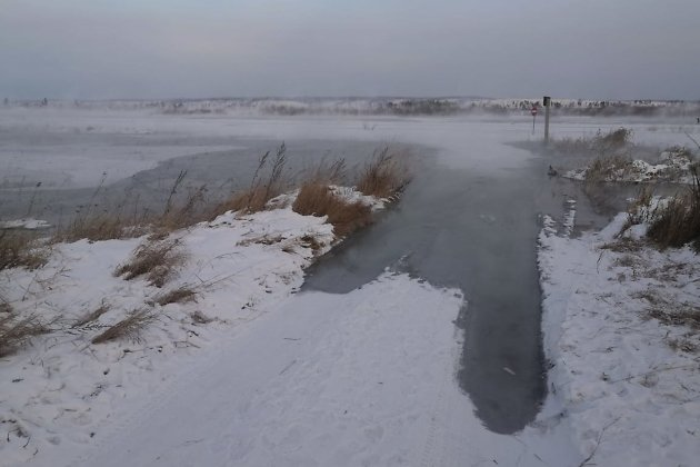 Подтопленный Варничный в январе 2021 года