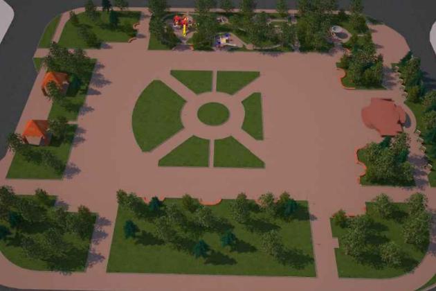 Визуализация благоустройства площади Труда