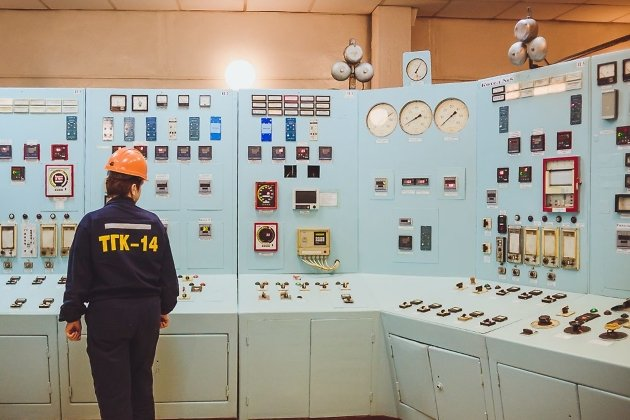 Щит управления паровыми агрегатами ТЭЦ-2 в Чите