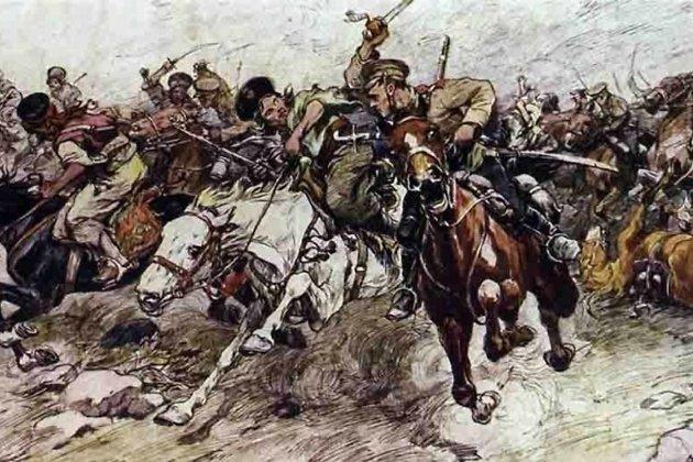 Cхватка казаков с курдамина Кавказском фронте