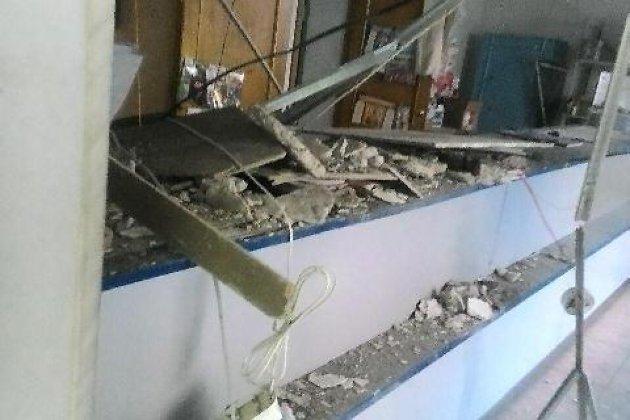Обрушение потолка в отделении почты России