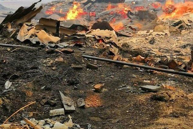 Пожар уничтожил дома в Унде