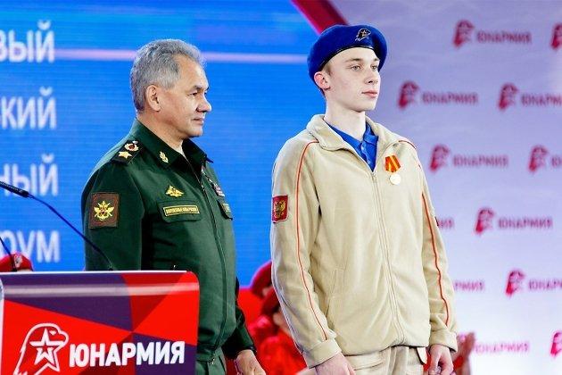 Министр обороны РФ Сергей Шойгу и Родион Терехов