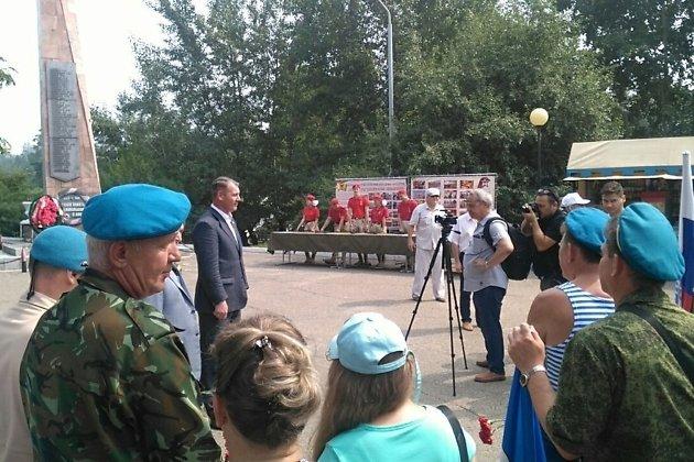 Сити-менеджер Читы поздравляет десантников с днём ВДВ