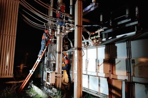 Восстановительные работы на подстанции, ночь на 31 июля