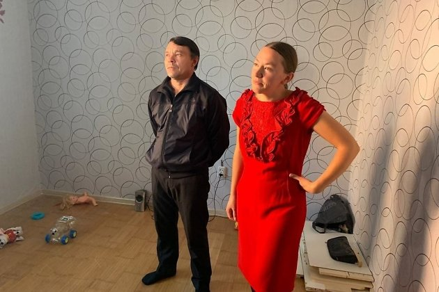 Анна Зуева с мужем