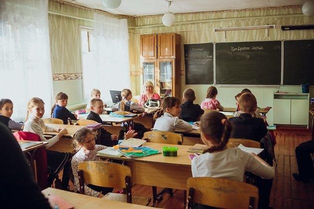 урок в дарасунской школе
