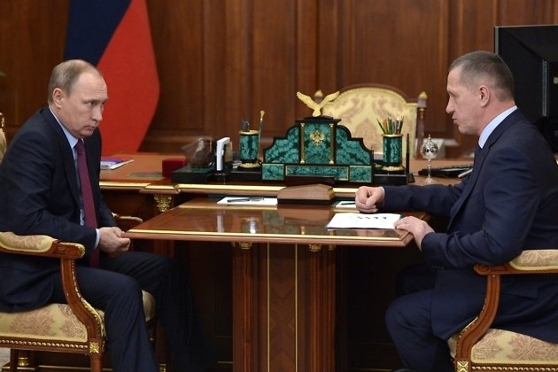 Владимир Путин и Юрий Трутнев