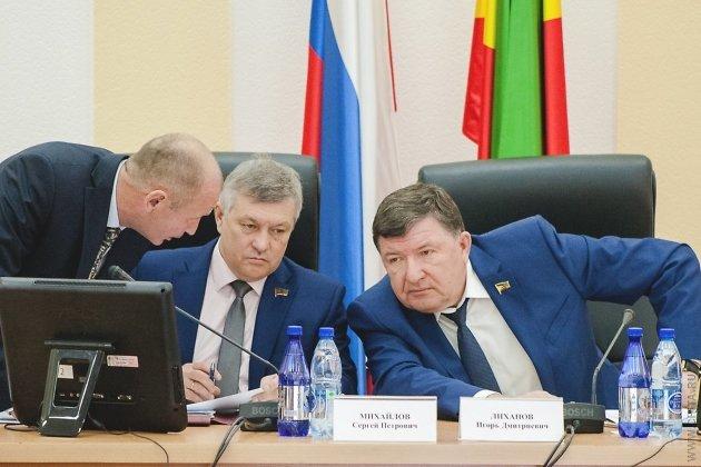 Сергей Михайлов (в центре) и Игорь Лиханов (справа)
