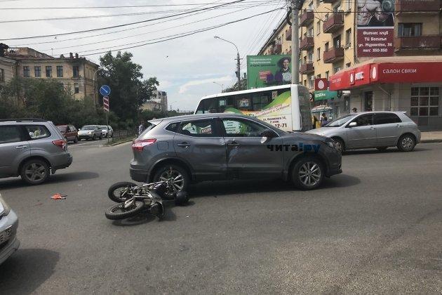 дтп мотоцикл honda могочинский район