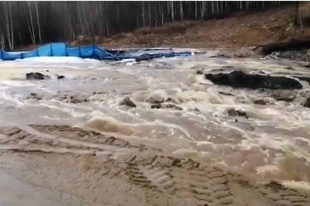 Размытая дорога в Ксеньевку