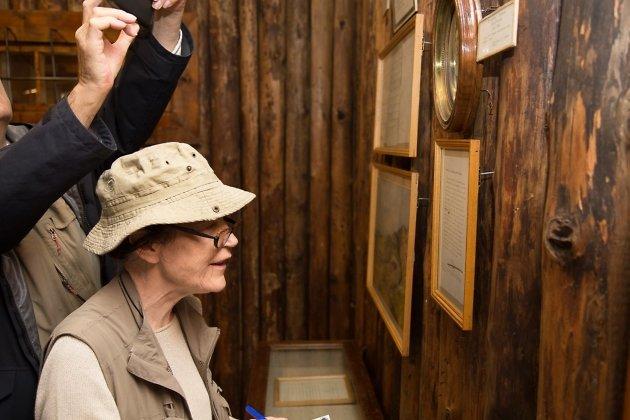 Ирэн Фрэн в Музее декабристов в Чите