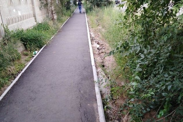 Новый тротуар по улице Столярова