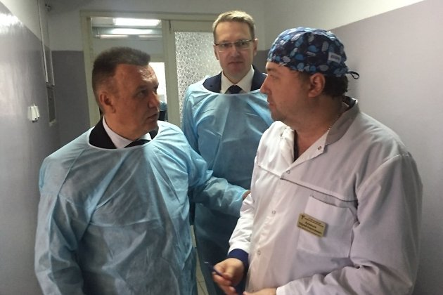 Руководство министерства Здравоохранения Забайкальского края в Красночикойской ЦРБ, май 2018 года.