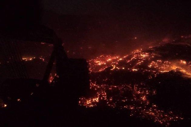Уголь горит на Харанорском разрезе