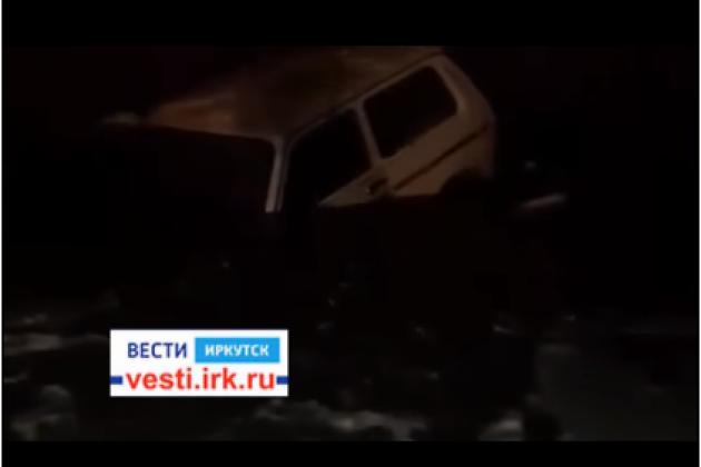 Автомобиль провалился под лёд нареке Лене вКиренском районе