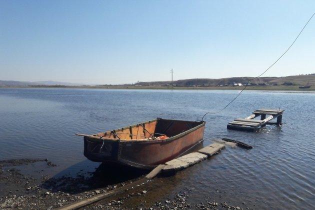 Лодка через Ингоду в Кайдалово