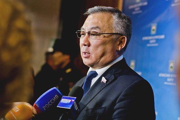 Баир Жамсуев на окружном отчётном совещании