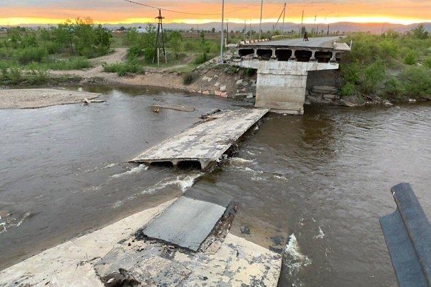 рухнувший каштакский мост