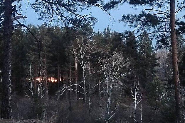 Пожар за стадионом СибВО