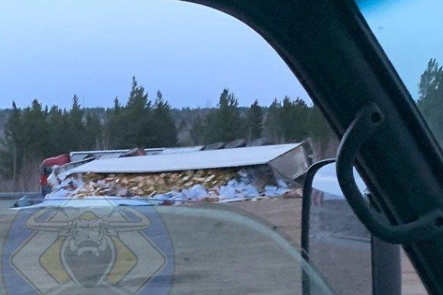 Грузовик Volvo слетел с трассы Чита – Забайкальск