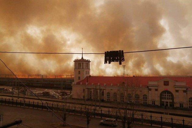 Пожар около Забайкальска. 20 апреля