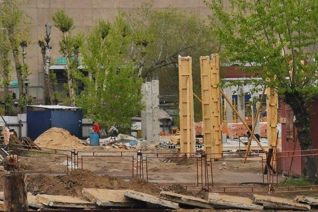 Строительство ТЦ на Театральной площади в Чите