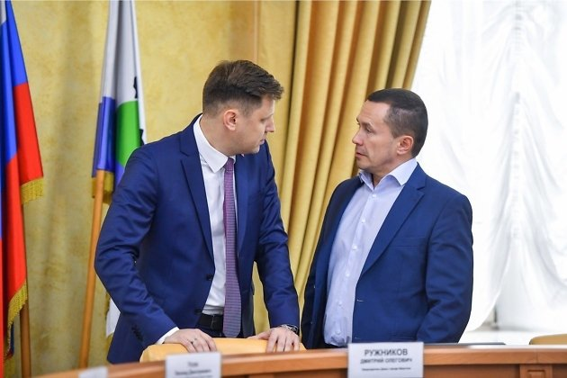 Дмитрий Ружников и мэр Иркутска Дмитрий Бердников