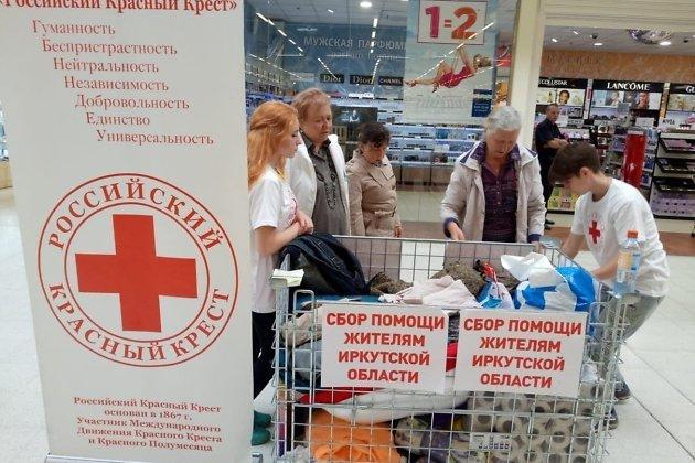 Сбор гуманитарной помощи в подмосковном городе Щёлково