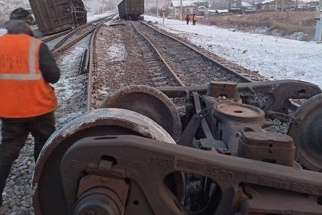 Сход вагонов в Могочинском районе 7 февраля 2021 года