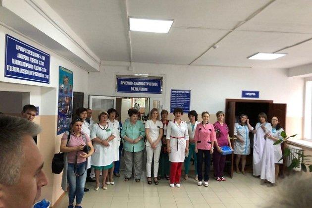 Медики на встрече с врио губернатора Александром Осиповым в Петровск-Забайкальском районе