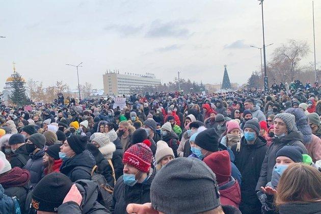 митинг у здания правительства Иркутской области