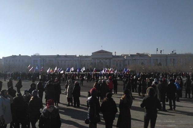 На открытии площади Ленина в Чите