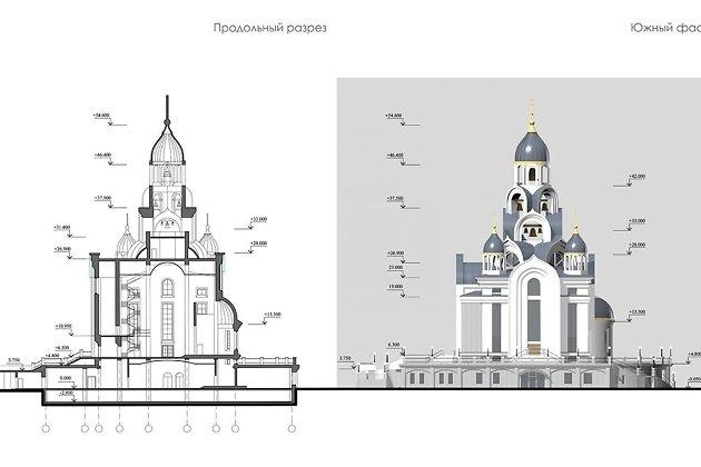 Высота самого большого купола будет достигать 54 метров