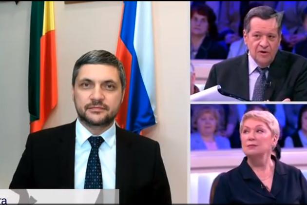 Губернатор Забайкалья Александр Осипов на передаче на Первом канале