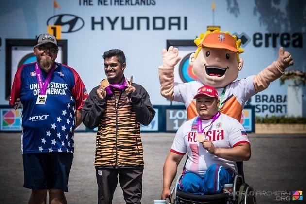 Бато Цыдендоржиев завоевал полный комплект медалей на чемпионате мира в Нидерландах в июне 2019 года