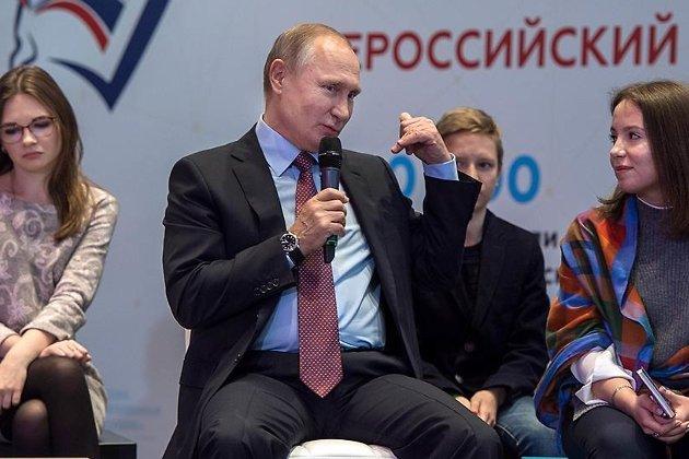 Путин на встрече со школьниками
