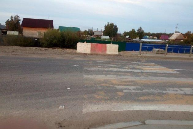 Закрытый переход в Смоленке вечером 9 августа - через несколько часов после ДТП