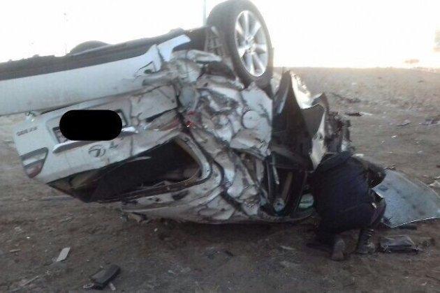Разбившийся под Забайкальском автомобиль