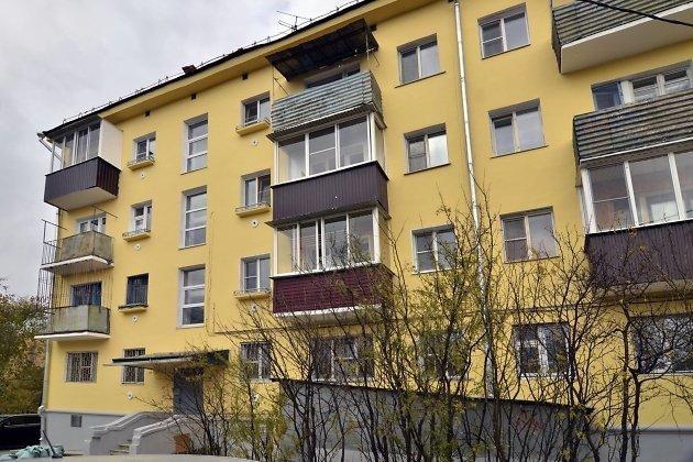 Обновлённый фасад на Анохина, 23, в Чите