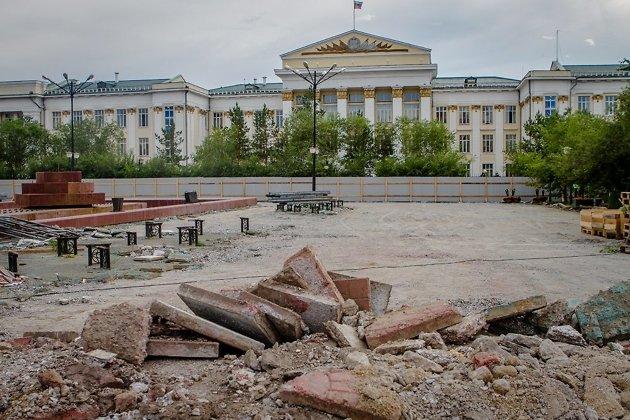 Ремонт на площади Ленина