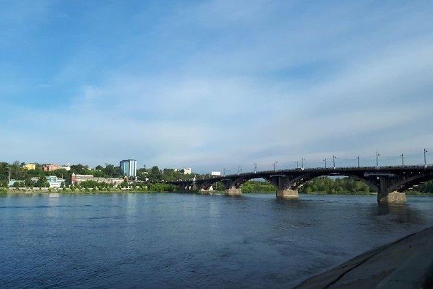 Прекрасный вид на Глазковский мост