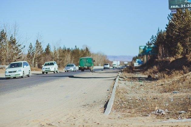 Карповский тракт в районе микрорайона Солнечный