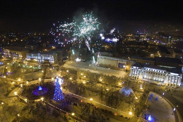 Открытие городской ёлки в Иркутске 25 декабря