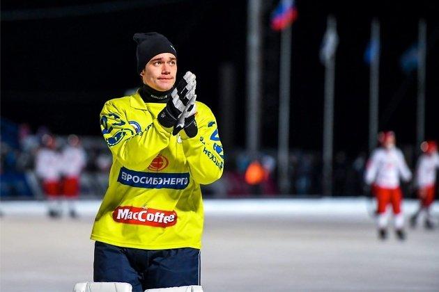 Голкипер «Байкал-Энергии» Максим Негрун после окончания матча с «Уральским трубником»